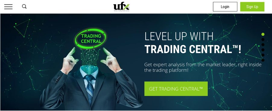 ufx avis | page d'accueil – screen capture from ufx homepage website | recover your fund |  financial fraud lawyer - mikov & attorneys
