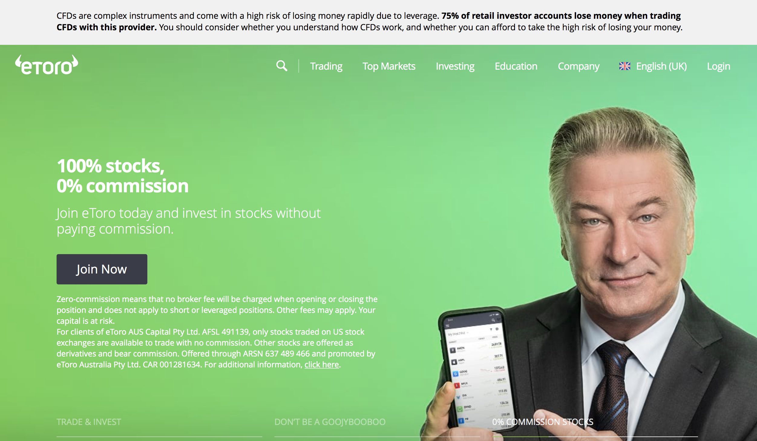 etoro avis | page– screen capture from etoro homepage website, https://www.etoro.com/en-gb/Etoro , Sept 25, 2020 mikov & attorneys | financial fraud lawyer