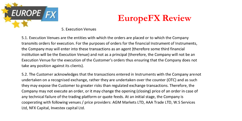 EuropeFx Avis | Execution Policy, https://europefx.com/license-regulation-terms/legal-documents/, June 25, 2020 | mikov & attorneys | financial fraud lawyer avocats litiges financiers